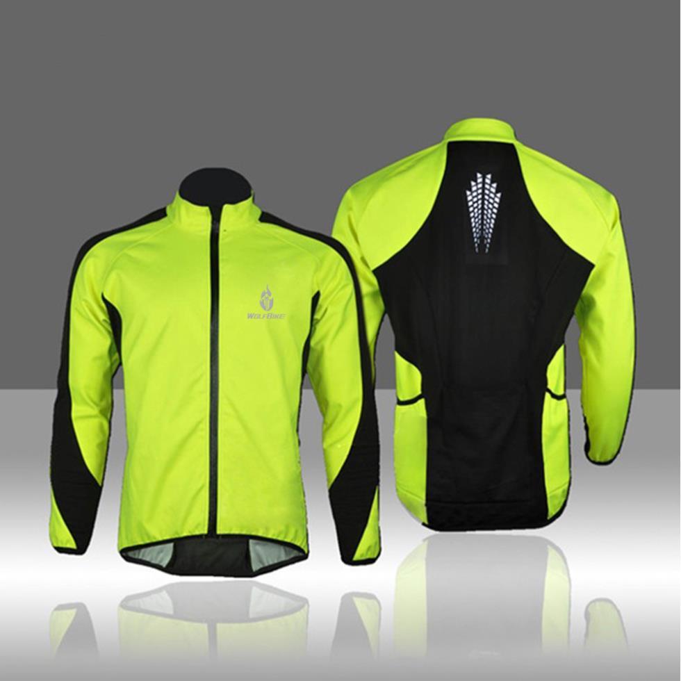 Winter Thermal Fleece Cycling Jersey Long Jacket