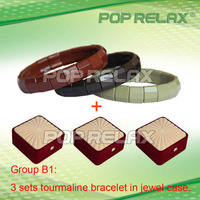 Free shipping!  3sets Tourmaline health bracelet energy balls  from POP RELAX  Group B1