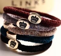 vintage crown Rope Elastic Hair Ties Bands Headband Strap Girl's lady multi color option CN post