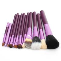 1Set/lot Purple Fashion New Professional 12 pcs/Set Cosmetic Makeup Brushes Set Make up Tool  600216