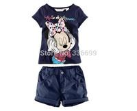 2014 new kids clothes sets for boys girls summer children tshirt vest pants clothing set artoon sport set tracksuit baby clothes
