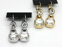 2014 hot sale luxury fashion crystal drop earrings female drop earrings accessories free shipping women's gold drop earrings