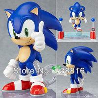 Hedgehog Sonic 4'' 10cm Sonic the Hedgehog Vivid Nendoroid Series Boxed PVC Figure Action Figure Collection Model Toy# 214