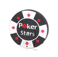 Genuine capacity 64GB 8GB 16GB 32GB rubber Poker Stars pokerstars USB flash memory drive Pen U disk Freeshipping