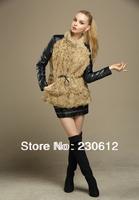 EMS Free 2014 Spring Winter Fashion Women's Real Lamb Fur Coat Sheepskin Genuine Leather Fur Down Coat Jackets Women L2811