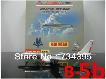 1:500 American Airlines 757 planes model alloy plating N679AN die-cast model planes planes vehicles toys and souvenirs 9.5cm(China (Mainland))