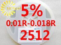 4000PCS 2512 Resistor 0.01R - 0.018R 5% 1W SMD Resistor 2512 Chip Resistors