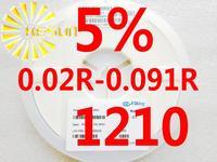 5000PCS 1210 Resistor 0.02R - 0.091R 5% 1/3W SMD Resistor 1210 Chip Resistors