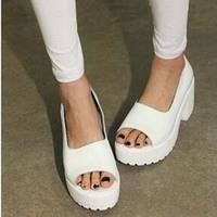 Womens Platform White Leatherette Sandals for womens casual sandals for womens S0075