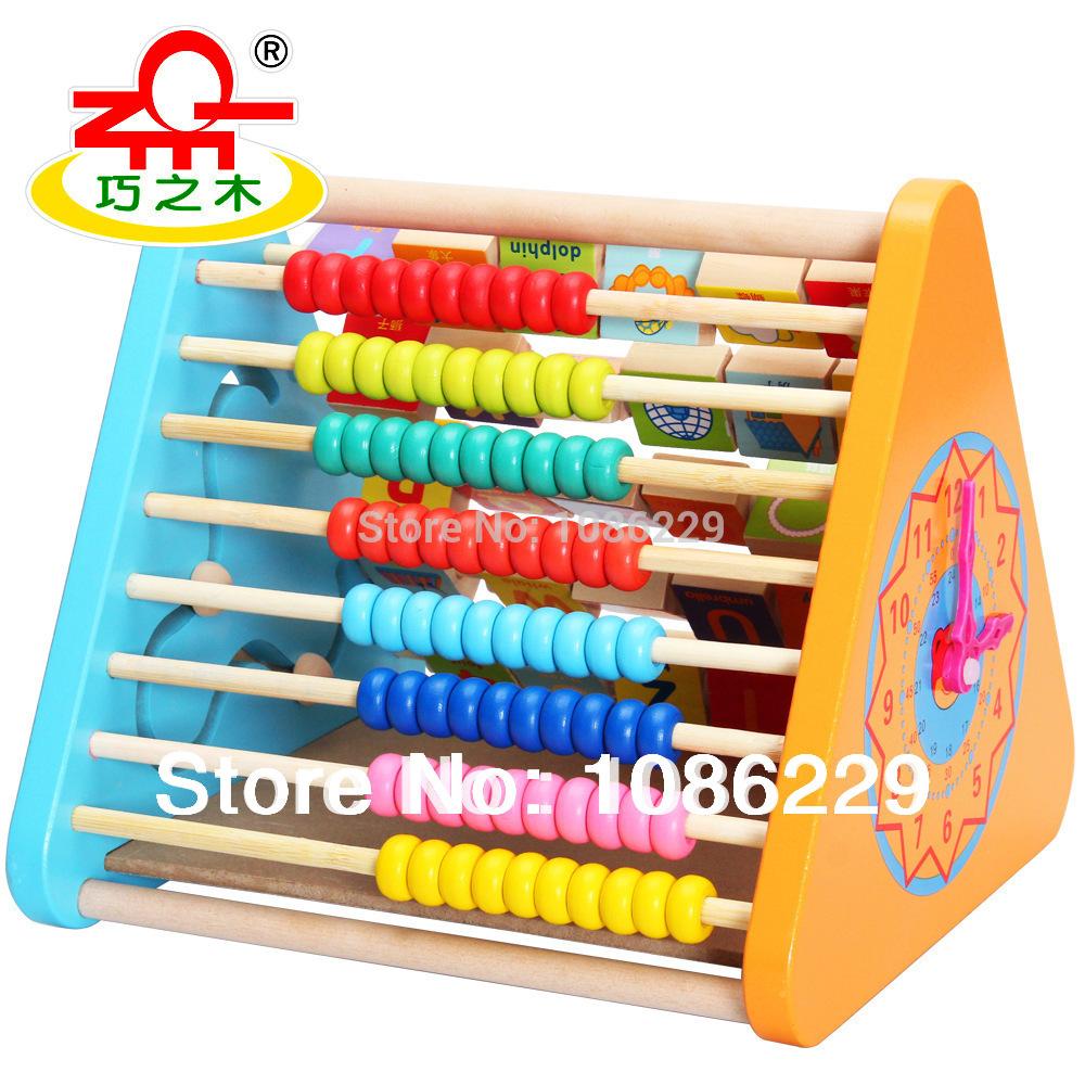 Chiao hout veilig educatief speelgoed wiskunde houten wiskunde/letters