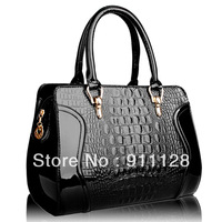 women's handbag female japanned leather crocodile pattern women's bags smiley cross-body bag