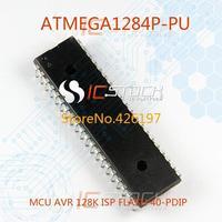 ATMEGA1284P-PU MCU AVR 128K ISP FLASH 40-PDIP 1284 ATMEGA1284P 1pcs