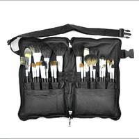 MSQ 1 set beauty brand 32pcs professional makeup brush set natural goat hair cosmetic belt brush kit for women high quality