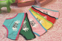 Week of pants, wear a different mood every day!Ms pure cotton underwear shorts printed 6 PCS free shipping