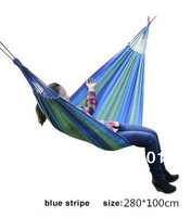 2014 Hot Sale Hammocks 280x100cm Outdoor Camping Double Swing Thickening Canvas Hammock Super Large outside prompt goods