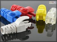 Wholesale (100Pcs/lot)  Colorful RJ45 CAT5 CAT5E CAT6 Ethernet Network Plug Sheath, RJ45 Strain Plug Cover Boot