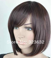 2014 new arrival high quality brazilian virgin remy hair 12 inch straight bob virgin lace wigs with bangs fast shipping