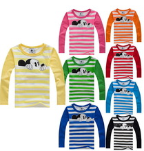 New 2015 children t shirts, Hitz cotton long sleeve boys and girls T-shirts, Hot sale pattern, cute round neck pullovers(China (Mainland))
