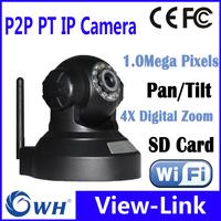 Free Shipping 1.0MP 1280*720P Family WIFI IP camera Pan/Tilt IR Robot Camara sd card recording