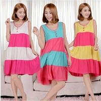 2014 New Women's Clothing Summer Short-Sleeves Lady Pajamas Cartoon Sleepwear Girl's Nightgown  QQ260
