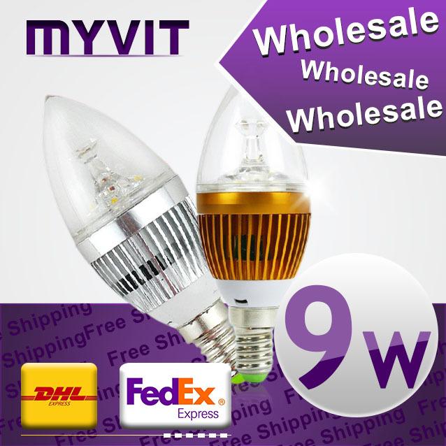 10pcs/lot 3w 4w 5w 9w led candle light e14 e27 led bulb lamp tubes Warm White Cool White e14 led 110v 220v candle free shipping(China (Mainland))