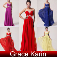 Free Shipping Grace Karin Ruched Bodice Sexy Strapless Sweetheart Ball Prom Gown Party Dress Long Formal Evening Dresses CL6003