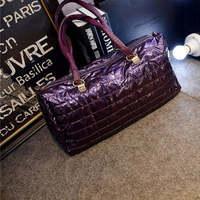 2014 shoulder bag fashion cotton-padded women bag keep warm women's handbag female casual patchwork bag gloves W245