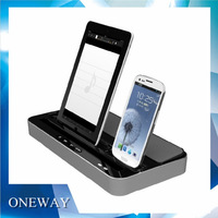 Multi-Functional Dock Charger Station Stand+Stereo Speaker For iPhone 4/4S/5/5S iPad 3 4 Mini /Samsung Galaxy S2 S3 Note2