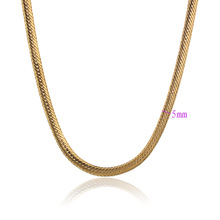 45cm Snake Link Necklaces For Men Gold Plated Gold Chain Necklace Fashion Women Items Choker Charms