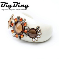 BigBing Fashion jewelry  fashion accessories white porcelain trend flower bracelet accessories  free shipping N1170