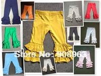 Baby Cotton Ruffle pants Baby Girls Toddler Cute Autumn Ruffle Pants Kids Baby Girls Triple Ruffled pants