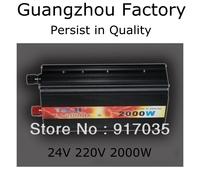 Power Inverter Battery Inverter 24V 220V 2000W,24V Car Battery Charger 2000W,Car Tools Car Accessories,Without Digital Display