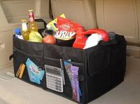 Retail Free Shipping Black Car Boot Organiser storage Bag Auto Storage Box Multi-use Tools organizer Auto receive bag