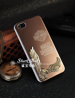 Harley davidson Eagle Wing Aluminum Hard Case Cover For iPhone 5 5s +Gift Protective Film