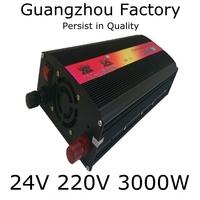 Inverter 24v 220v 3000w Cigarette lighter Car emergency power supply 24v inverter 220V 3000w Car Inverter Outdoor Power Supply