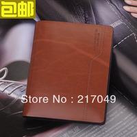 Short design male wallet vertical multi card holder men's cowhide wallet