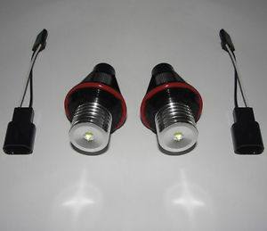 E39 E53 E60 E63E64E65E66 7000K White LED Angel Eyes Halo Ring Light Bulb Headlights Free Shipping(China (Mainland))