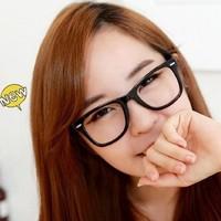 Non-mainstream big box colored glasses men women plain mirror models Tai Hachiro eyewear accessories free shipping YJ5023