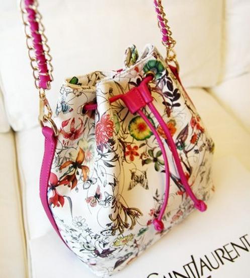 Floral Bucket Bag Floral Bucket Bag Large