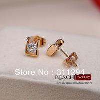 T90039 18k gold-plated zircon earrings CZ diamond earrings drop shipping jewelry high quality
