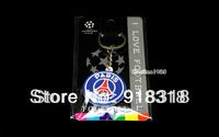 Soccer football Souvenir PSG PVC Keychain Football Club Key ring Free Shipping