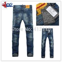 28-36#Blue#KPDG8316,2014 Italian Famous Designer Brand Ripped Jeans For Men,Warm Personality Motorcycle Torn Hole True Jeans Men