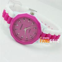 2014 Wholesale High Quality Geneva Brand Watch Women Ladies Fashion Dress Quartz Wristwatches Freeshipping