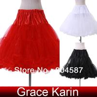 Free Shipping GK 2014 Short Wedding Petticoat Girls Retro Vintage Dress Gown Underskirt Crinoline Rockabilly Skirt CL5045