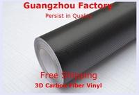 3D Carbon Fiber Vinyl Film,Car Styling With Air Drain,Size 1.52M*30M Car Full Body,Carbon Fiber Vinyl,Car Accessories,Black