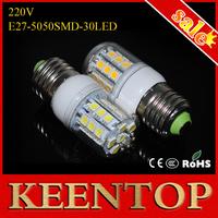 High Lumen Utral Brightness Spotlight 5.5W Led Lights 220V e27 5050 30Led Brand Quality SMD Led Corn Light E14 Bulb Lamps 10Pcs