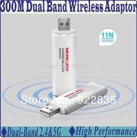 Mercucy MW3030U 300Mbps 2.4GHz+5GHz High Performance Dual Band Wireless N WIFI 300M USB Adapter 802.11n adaptor for streaming HD
