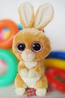 Free shipping kawaii TY Big Eye Stuffed Animal Rabbit 15cm cute plush rabbit soft toy children toys