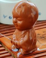 Cute China  tea pet decoration Kung fu tea set ceramic teapot cup solid wood tea tray doll yixing Free Shipping