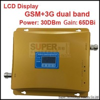 2014 new model 980 power 30 dbm gain 65dbi LCD display dual bands GSM+3G booster repeater dual bands booster WCDMA repeater